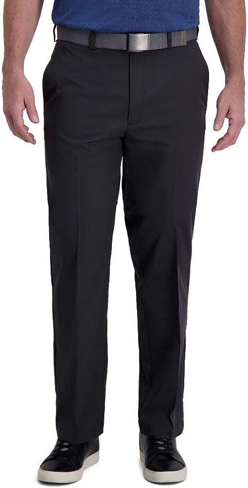 Haggar Men's Cool Right Performance price Solid Max 76% OFF Flex Classic Flat Fit