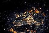 Tanque en las llamas de la guerra Jigsaw Puzzle 1500 Piezas Rompecabezas de Juguete Juegos de Rompecabezas para la Familia Puzzle de Madera de 1500 Piezas para Adultos