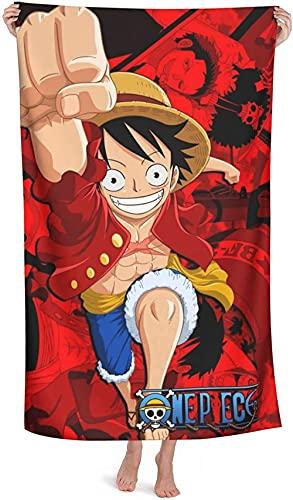 Proxiceen One Piece Luffy - Toalla de playa (tamaño grande, 150 x 200 cm)