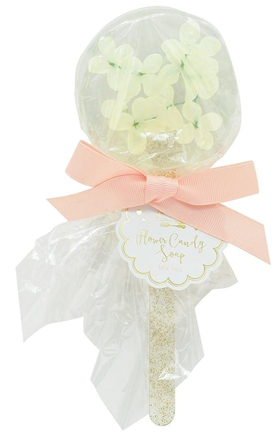 肥満洗剤三ノルコーポレーション 石鹸 フラワーキャンディ ソープ ホワイトミニフラワー 75g ミックスティー の香り OB-SMP-10-4