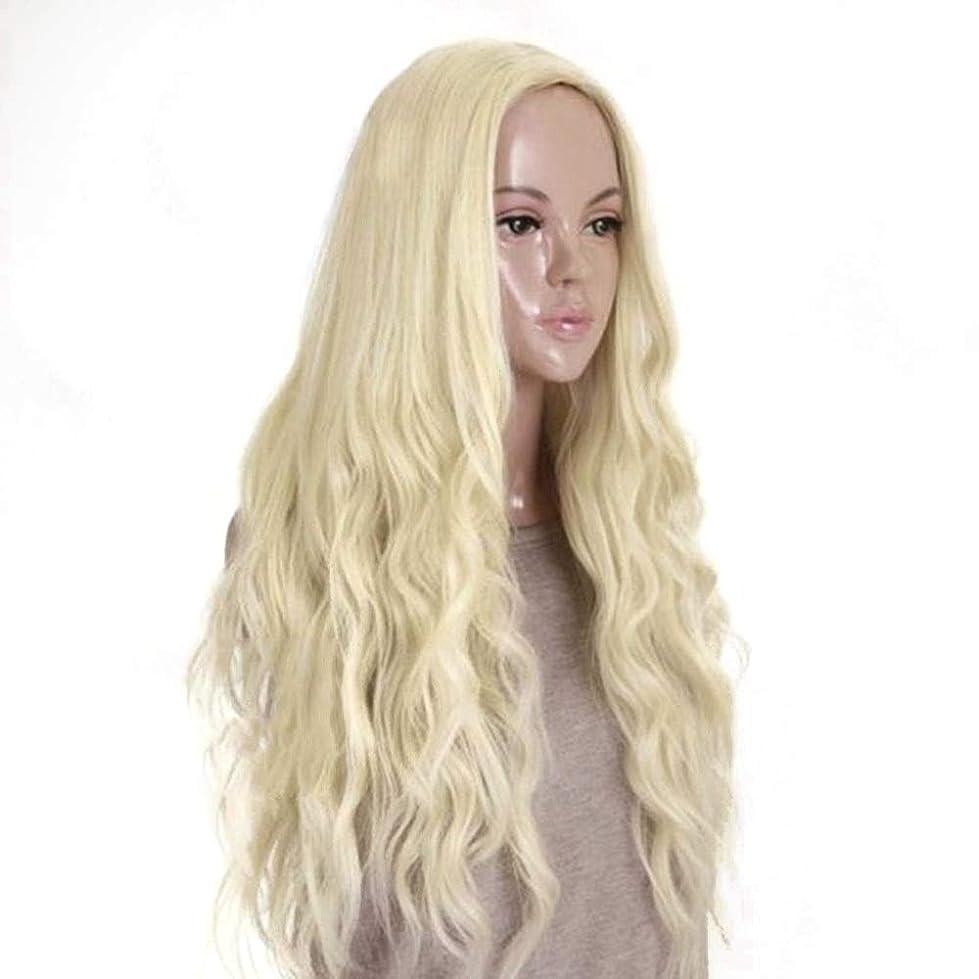 欺変化陽気なWASAIO ブロンドの髪かつら合成の長い巻き毛のふわふわのかつら70 cm (色 : Blonde)