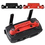 KUUQA 2 piezas Versión mejorada Transmisor Controlador Stick Pulgar Protector de clip Rocker Compatible con Mavic Pro, Rojo y Negro (No apto para Mavic 2)