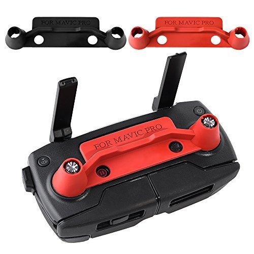 KUUQA 2 teilige Upgrade Version Transmitter Controller Stick Daumenschutz Clip Wippe Kompatibel mit Mavic Pro, Rot und Schwarz (nicht für Mavic 2 geeignet)
