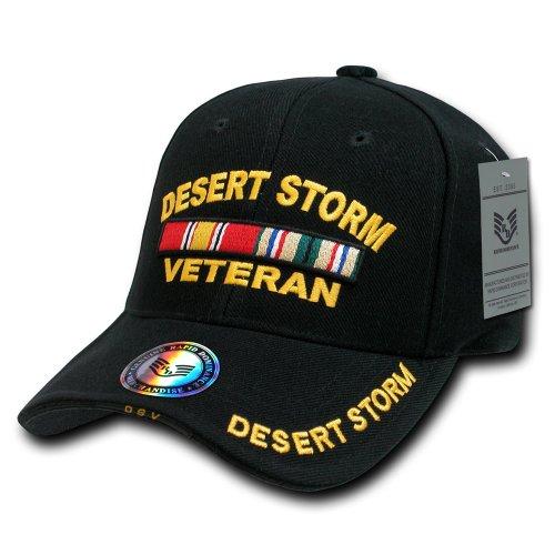 Rapiddominance Deluxe Military Cap, Desert Storm Vet/Black