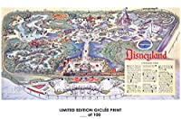 RareポスターディズニーDisneylandマップ2018再印刷# ' d / 10012x 18