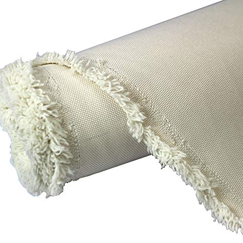Mybecca Canvas Marine Oxford Polyester Fabric Ivory 10 Yards