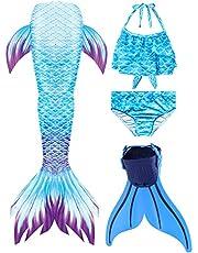 zeemeerminstaart voor meisjes SPEEDEVE badkleding cosplay kostuum met monovin