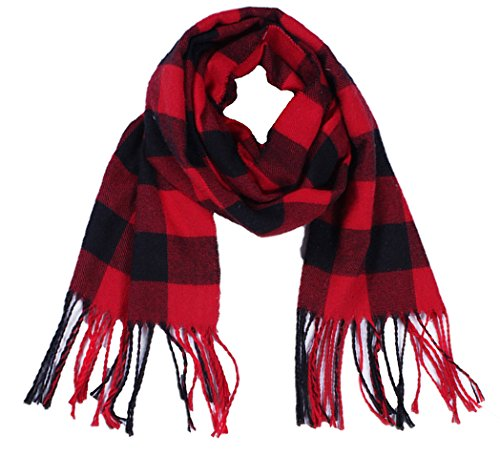 Wander Agio Kids Scarf Warm Womens Shawls Girl Scarves Parent-child Scarf Girls Plaid Small Scarfs Red Black