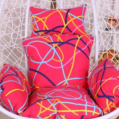 Wicker Hanging egg Chair pads, Swing Multi color Seat cushion Hanging chair Thick nest Pillow Back with-B