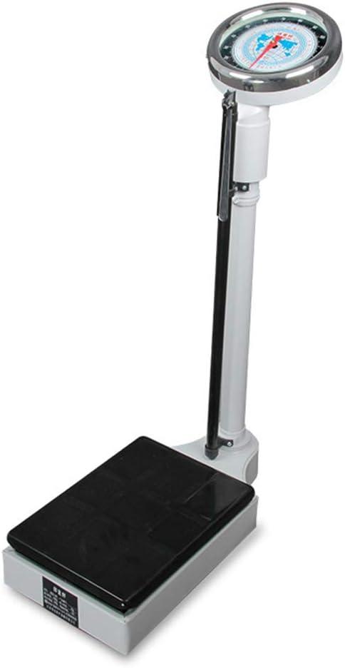 SYTH Mecanica Bascula de baño,Balanza médica Digital para medidor de Salud, con Barra de Altura Balanzas de baño para médicos,monitores saludables de Altura/Peso, hogar Escuela/Gimnasio/hospitales