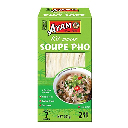 AYAM Kit pour Soupe Phò | Kit Recette | Soupe Vietnamienne | Facile à cuisiner | Prêt en 7min | Haute Qualité | Pour 2 personnes - 201g