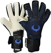 Renegade GK Eclipse Frost Professional Goalie Gloves | 4mm EXT Contact Grip & Breathaprene | Black & Blue Soccer Goalkeeper Gloves (Size 9, Youth-Adult, Negative Cut, Level 5)