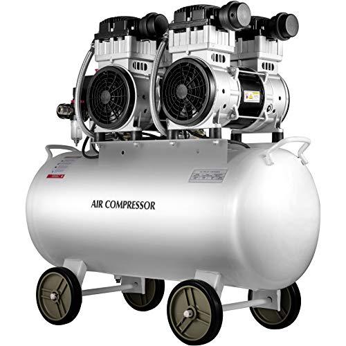 VEVOR Air Compressor 18.5 Gallon, Portable Air Compressor 4 HP, Oil Free Air Compressor Steel Tank 3000W, Pancake Air Compressor 115 PSI, Ultra Quiet Compressor for Home Repair, Tire Inflation