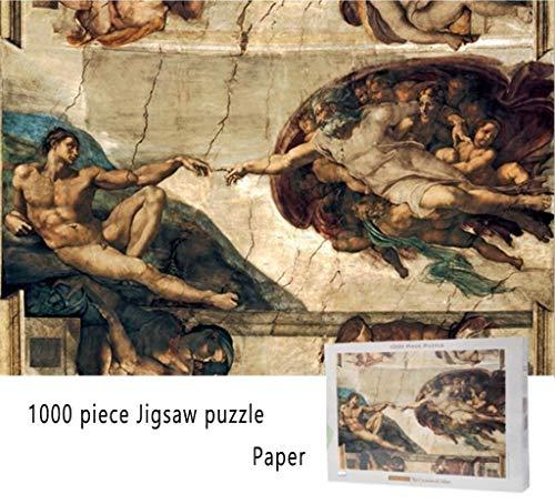 JXXU Papel 1.000 Piezas de Rompecabezas Puzzle- La Creación de Adán-Juguetes Puzzles Juego Arte de la Pared Decoración for el Hogar