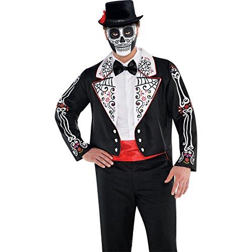 Disfraz de cola de Pie Da de los Muertos, disfraz de Halloween