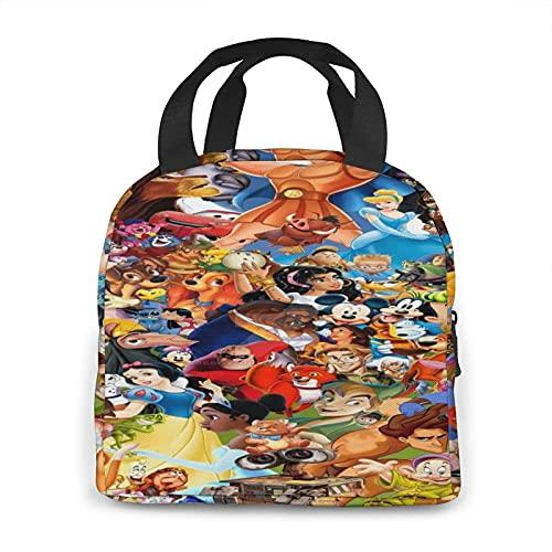 NIUPEE Disney Character Bolsa de almuerzo para niños, bolsa de almuerzo pequeña térmica aislada para la escuela