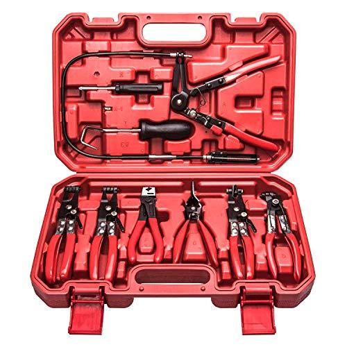 HFS (R) 9pc Deluxe Flexible Hose Clam Plier Assortment Kit Flexible Tool Set
