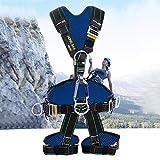 LXYYSG Baudrier Escalade, Baudrier d'escalade, Harnais de sécurité Antichute, pour d'élagage et de toiture Alpinisme Travail Aérien, pour Femme et Homme Harnais de Sécurité Antichute