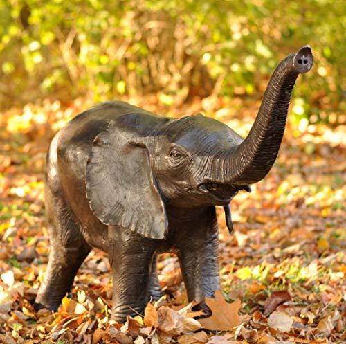 Kunsthandel Lohmann Bronzefigur Elefanten-Kalb als Wasserspeier