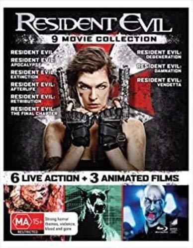 Resident Evil - 9 Film Collection (Resident Evil/Apocalypse/Extinction/Afterlife/Retribution/Final Chapter/Degeneration/Damnation/Vendetta)