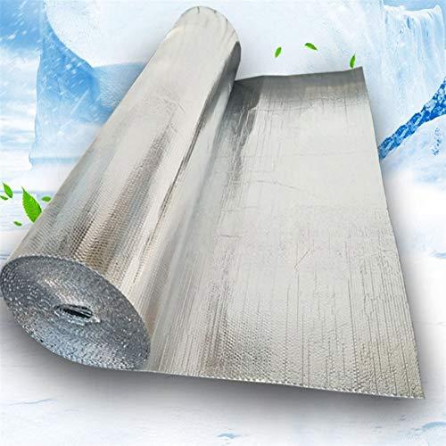 GZSC Auto-adhésif Aluminium Foil Bulle Isolation Thermique Film Double Face Matériau Isolant for toiture et Sun Chambre 3m² / lot
