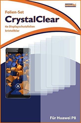 mumbi Schutzfolie kompatibel mit Huawei P8 Folie klar, Displayschutzfolie (6X) - 3