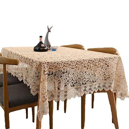 WTY Manteles Huecos del Bordado Toalla De Cubierta Mantel Hecho A Mano con Tapetes De Ganchillo Decoración del Hogar,150X220(59X87inch)