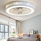 TDLL Moderno Plafoniera LED Ventilatore a Soffitto con Luce e Telecomando Silenzioso Ventilatori...