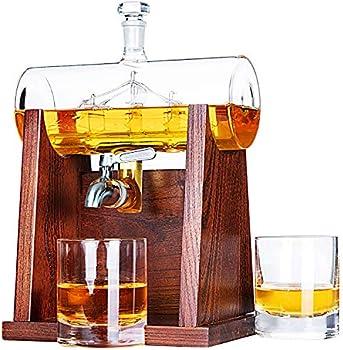 Jillmo Whiskey Decanter Set, 1250ml Whiskey Decanter