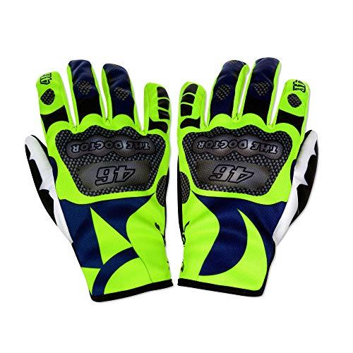 VR46 Valentino Rossi SOLELUNA Race Replica Handschuhe Blau/Gelb Erwachsene Größen S-XL, multi, Medium