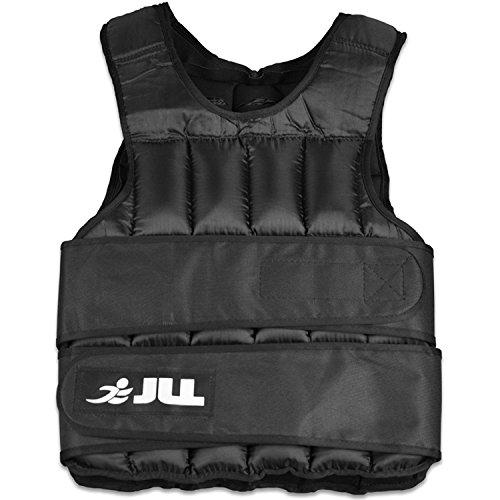 JLL® Weight Vest -10kg, 15kg, 20kg, 25kg, 30kg, Adjustable Weighted Vest Weight Loss Running Gym Training - (25 Kilograms)
