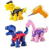 Canghai Juguetes de dinosaurio para niños - Juego de juguetes de construcción con taladro...