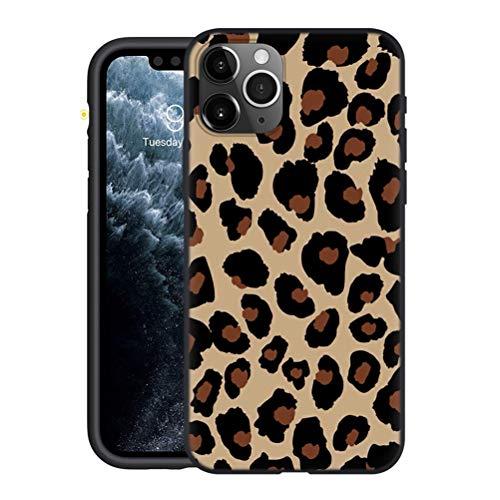Yoedge Funda Compatible con Huawei Honor Play 5T Youth (4G) 6,6',Ultra Slim Cárcasa Silicona Negro con Moda Dibujos Diseño,Suave Antigolpes TPU Proteccion Case Cover para Honor Play 5T Lite,Leopardo