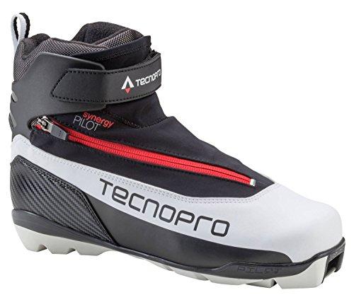 TECNOPRO Herren Synergy Pilot Skilanglaufschuhe, schwarz/Weiß/Rot, 7.5
