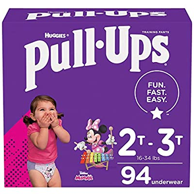 Pull-Ups Girls' Potty Training Pants Training Underwear Size 4, 2T-3T, 94 Ct from Kimberly-Clark Corp.
