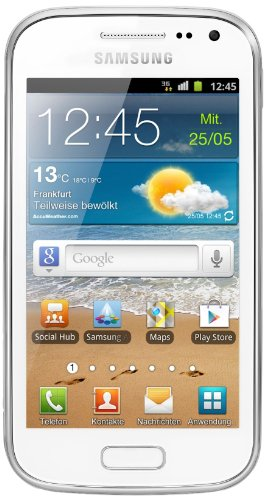 Samsung Galaxy Ace 2 I8160 Smartphone mit NFC (9,7 cm (3,8 Zoll) Touchscreen, 5 Megapixel Kamera, Android 2.3) white mit NFC