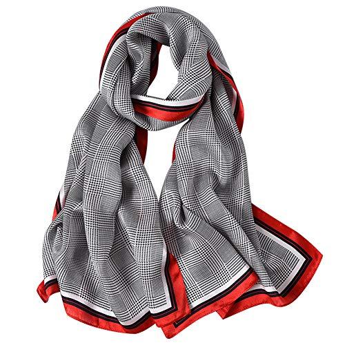 STORY OF SHANGHAI Seidenschal Damen 100% Seide, 20+ Bunte Luxuriöse Schals, Warm & Weich, als Stola Seidentuch Halstuch Pashmina - 53 * 170 cm Europa Schal 10