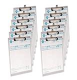 Westcott e 1700100I Portablocco in Alluminio, formato DIN A4con clip a molla e occhiello, 12pezzi