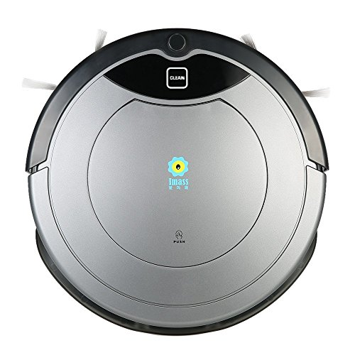 Robot aspirapolvere intelligente e automatico con chat video e fotocamera singola con 120 minuti di durata, app per smartphone e telecomando; aspirazione diretta e contenitore della polvere da 0,83 l, serbatoio dell'acqua da 0,35 l con giroscopio smart 2.0