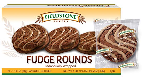Fieldstone Bakery Fudge Rounds, Boxes, 96 Individually Wrapped Cookies, Chocolate, 4 Count