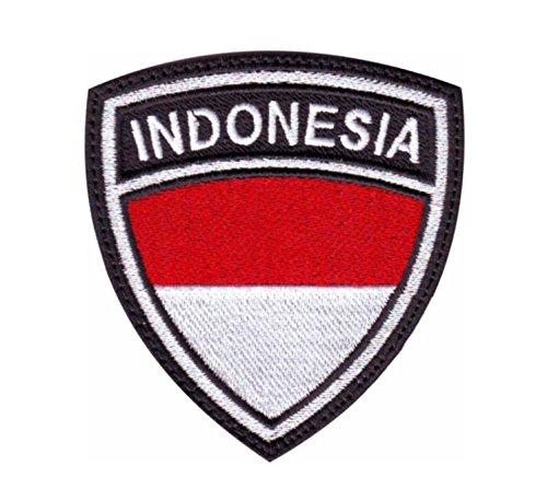 MAREL Patch Flag Flagge Indonesien Aufnäher Embroidery Stickerei cm 6,5 x 5,5-1434