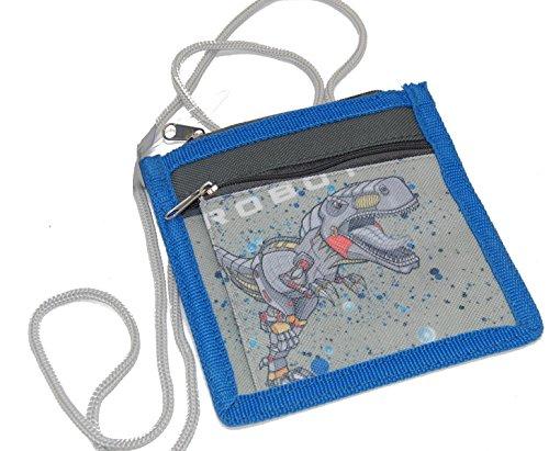 STEFANO Kinder Reisegepäck Roboter grau Set Trolley Koffer Rucksack Sportbeutel Brustbeutel -präsentiert von RabamtaGO®- (Brustbeutel)