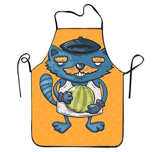 N\A Die Digitaldruck-Latzschürze enthält eine Wassermelone zum Kochen von genähten Kanten