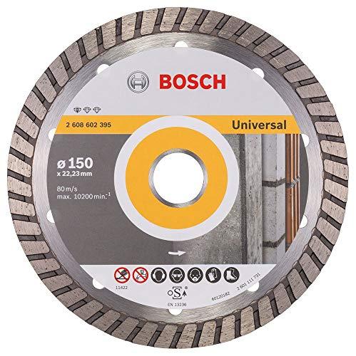 Bosch Professional Diamanttrennscheibe Standard for Universal Turbo (Stein, 150 x 22,23 x 2,5 x 10 mm, Zubehör Winkelschleifer)