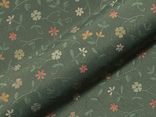 Stoff Polsterstoff Möbelstoff Bezugsstoff Meterware für Stühle, Eckbänke, etc. - Graubünden Grün Blumen - MUSTER