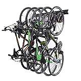 NETWAL Wall Mount Bike Storage Rack Garage Hanger,Holds 5 Bicycles & 3 Helmets,Bike Hooks for Indoor