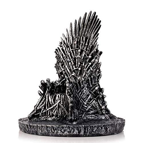 XinLuMing La Estatua de Resina del Trono de Hierro Juego de Thrones Props Sculpture Home Office Desk Decor Decoración de la Fiesta Regalo Dropshipping (Color : Silver)
