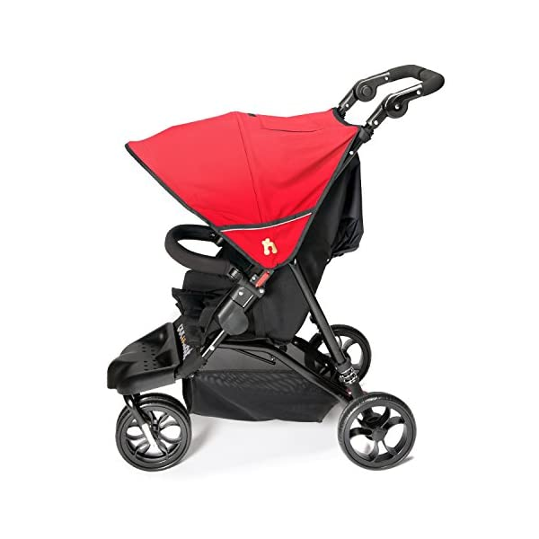 Out n About Little Nipper (Poppy Red) Out 'n' About Suitability? Newborn to 22kg / 50lb (4 years approx) Ultra compact and super lightweight at less than 8kg & One hand fast fold Multi-position reclining seat with lay-flat newborn position 3