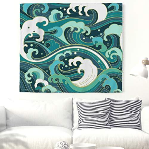 Tapestry Tapisserie Japonais Welle Tapisserie Nappe de plage 150x130cm