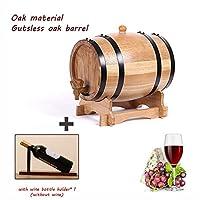 yimi botte in rovere,3l/5l/10l/20l/30l botti per vino rosso distributore birra bevande legname di quercia legno massiccio invecchiamento del vino vino spirito conservazione whisky (size : 3l)